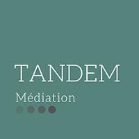 Logo Tandem Médiation sur fond vert